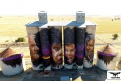 Sheep Hills  painted silo